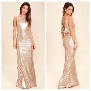 Lulu's Slink and Wink Matte Sequin Dress
